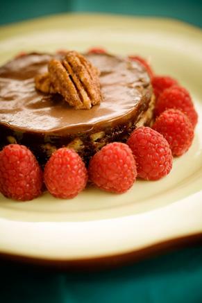 Chocolate Bourbon Pecan Cake Recipe