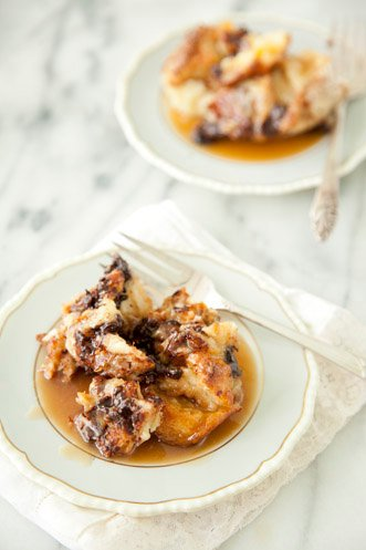 Chocolate Bread Pudding With Rum Toffee Sauce Recipe