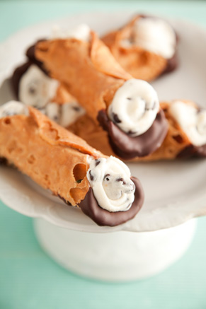 Chocolate Dipped Cannoli Recipe