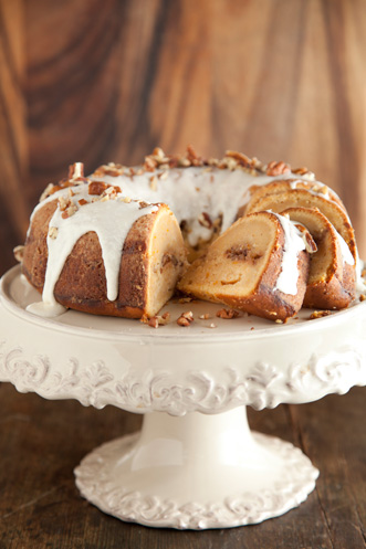 Cinnamon Ripple Sweet Potato Cake Recipe
