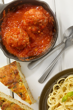 Italian Spaghetti and Colossal Meatballs Recipe