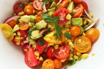 Corn, Avocado, and Tomato Salad Recipe
