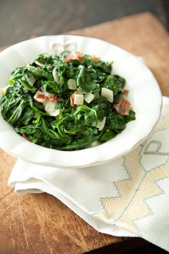 Corrie's Bacon Creamed Spinach Thumbnail