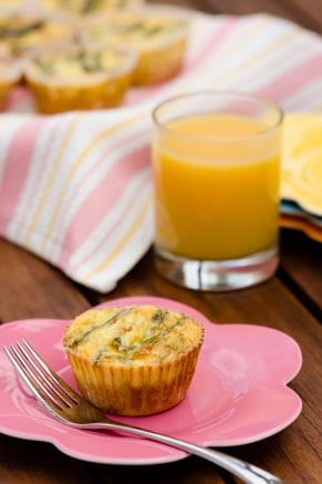 Crab & Asparagus Quiche Cupcakes Recipe