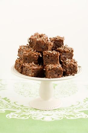 Lighter Creme de Menthe Brownies Recipe
