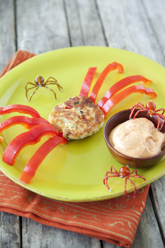 Crunchy Crab Cake Spiders Recipe