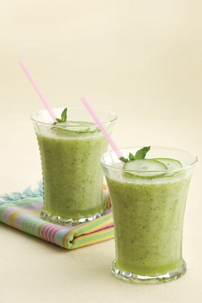 Honeydew-Cucumber Mint Smoothies Recipe