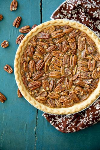 Bourbon Pecan Pie: aka Douglas' Dark Rum Pecan Pie Thumbnail