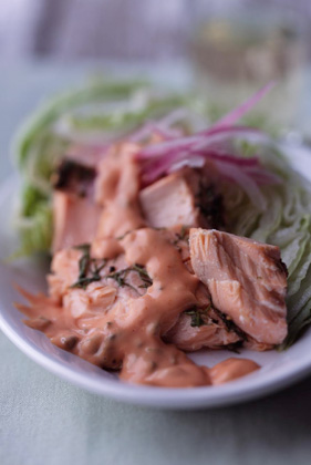 Alaskan Salmon Salad with Iceberg Lettuce Thumbnail
