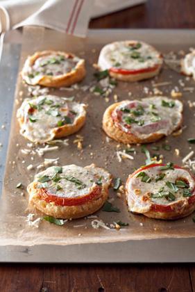 Bite-Size Tomato and Mozzarella Tarts Recipe