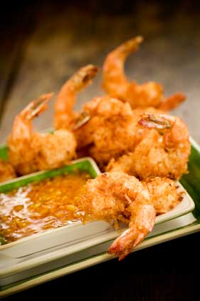 Coconut Fried Shrimp with Dipping Sauce Thumbnail