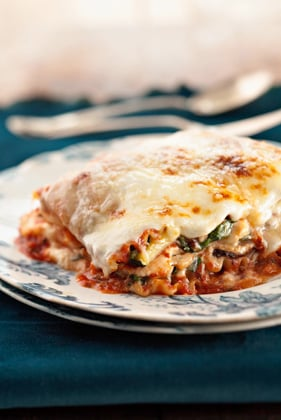 Five-Veggie, Four-Cheese Lasagna Recipe