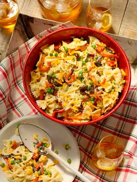 Grilled Red Pepper and Bow-tie Pasta Salad Recipe