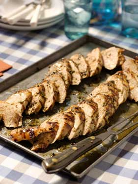 Herb-Rubbed Grilled Pork Tenderloin Recipe