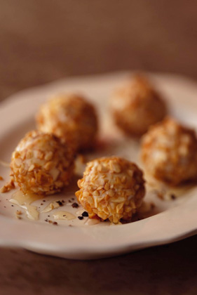 Honey-Nut Goat Cheese Balls Recipe