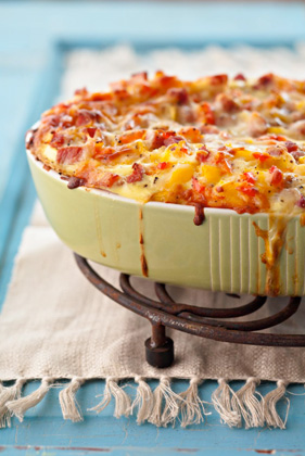 Jamie's Breakfast Casserole with Ham and Cheese Recipe