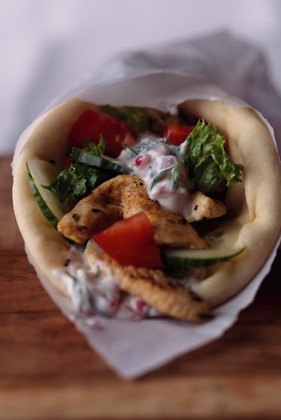 Marinated Chicken Gyro Wraps Recipe