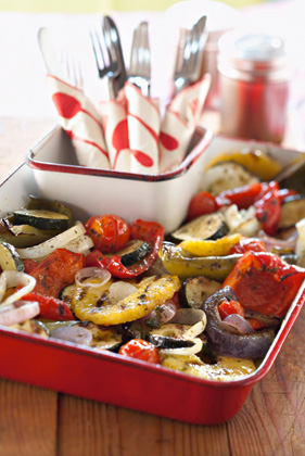 Mixed Grilled Veggies in a Basket Recipe