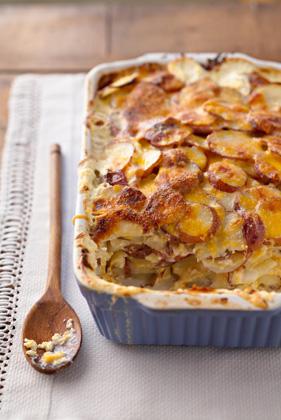 Three-Cheese Potato Gratin Recipe