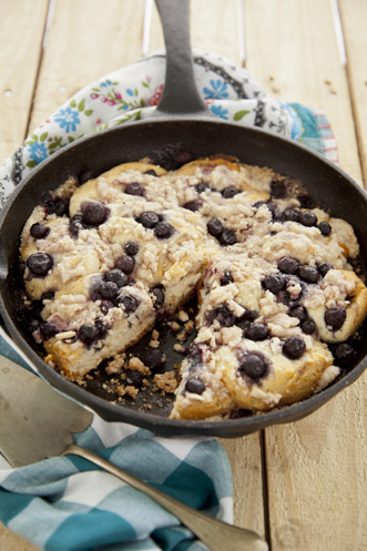 Easy Blueberry Skillet Cake Recipe