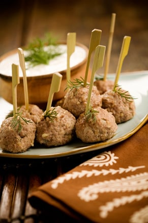 Easy Lamb Meatballs with Cucumber Dill Dipping Sauce Recipe