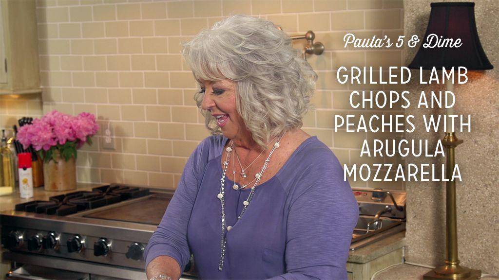 Grilled Lamb Chops and Peaches With Arugula Mozzarella Salad Recipe