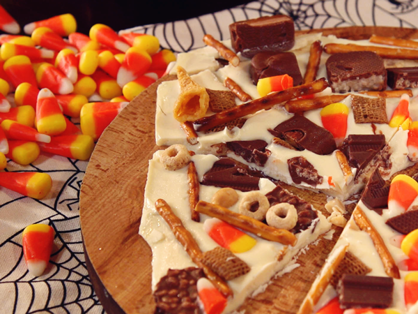 Candy Corn and Snack Mix Bark Recipe