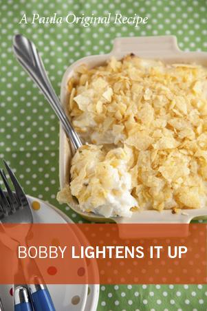 Bobby's Lighter Creamy Hash Brown Casserole Recipe