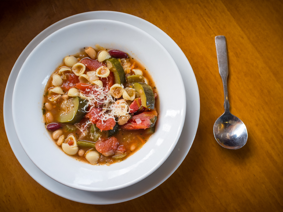 Minestrone with Pumpkin and Fall Vegetables Recipe