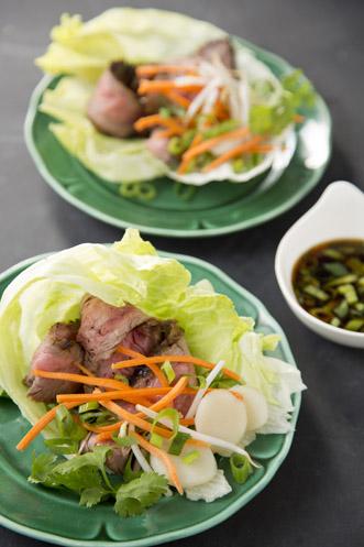 Flank Steak Lettuce Wraps Recipe