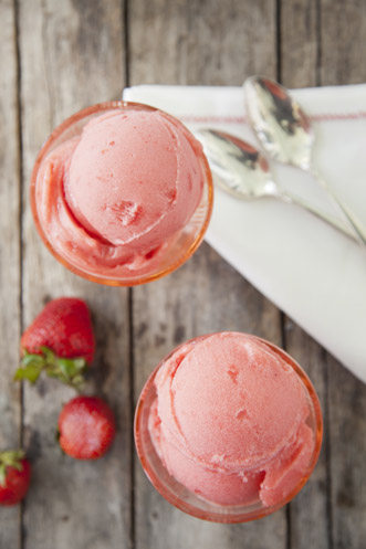 Fresh Strawberry Sorbet Recipe
