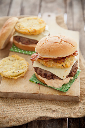 Fried Green Tomato Burgers Recipe