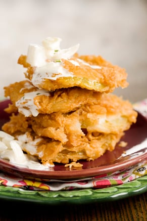 Fried Green Tomatoes with Vidalia Onion Relish Thumbnail