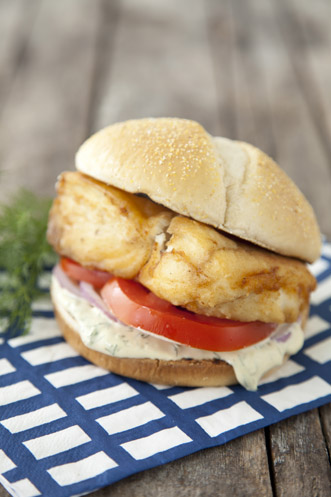 Fried Halibut Sandwich Recipe