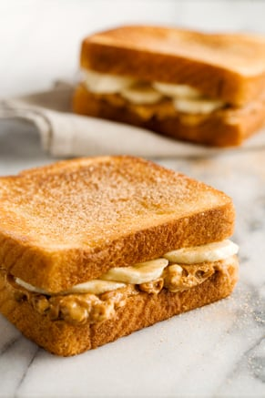 Paula's Fried Peanut Butter and Banana Sandwich Thumbnail