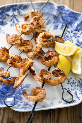 Glazed Barbeque Shrimp Recipe