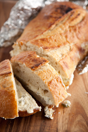 Grilled Cheesy Olive Bread Recipe