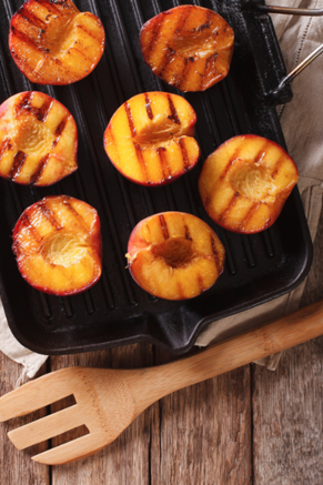 Grilled Peach Halves with a Peach Pecan Dressing Recipe