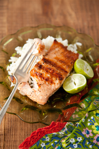 Grilled Salmon With Key Lime Butter Recipe