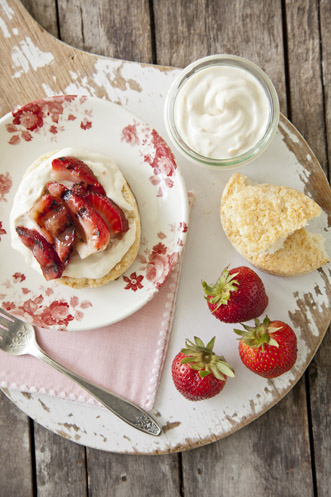Grilled Strawberries with Orange Cream Recipe