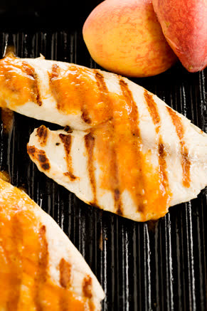 Grilled Tilapia with Peach BBQ Sauce Recipe