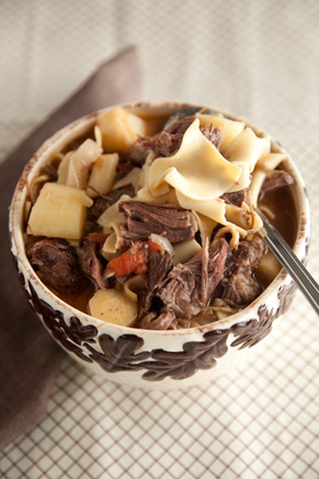 Hearty Beef and Noodle Soup Thumbnail