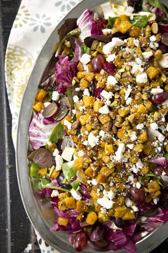 Jamie's Salad With Maple Red Wine Vinaigrette Recipe