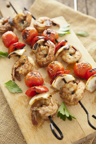Jerk Shrimp Kebabs Recipe