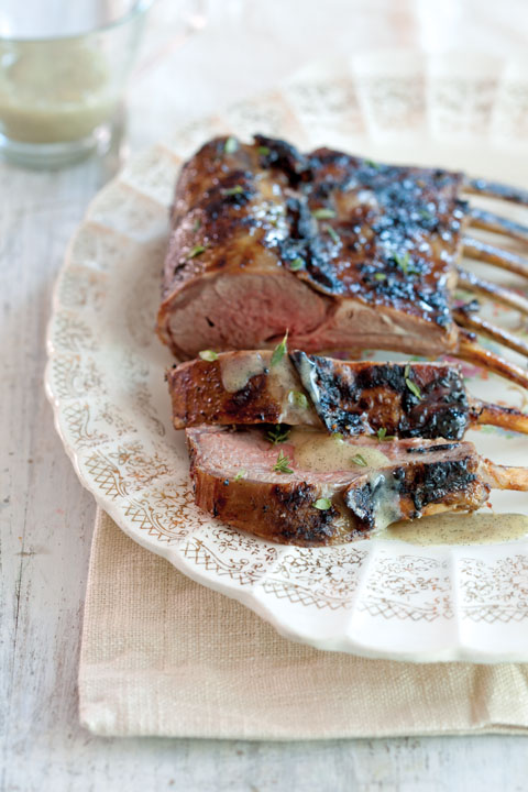 Vanilla and Peppercorn-Crusted Rack of Lamb With Vanilla Bean Butter Sauce Thumbnail