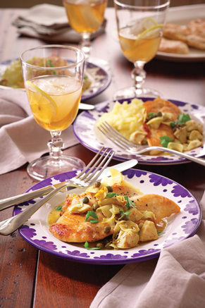Lemon Chicken with Artichokes Recipe
