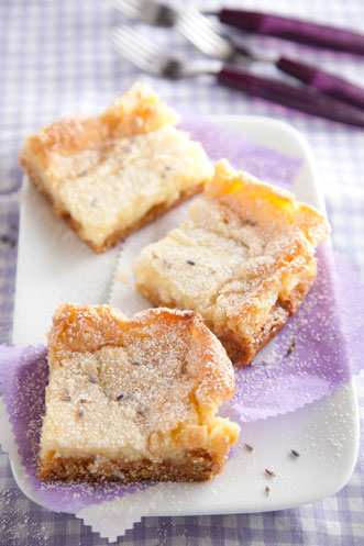 Lemon Lavender Gooey Butter Cake Recipe