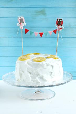 Paula's Lemon Cake with 7-Minute Frosting Recipe