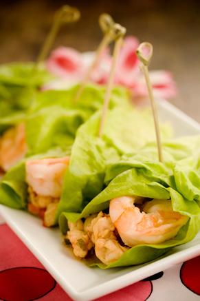 Lime Shrimp Lettuce Wraps Recipe