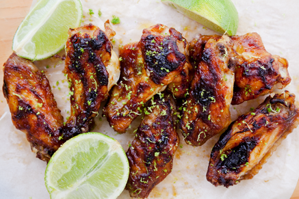 Lime Marinated Chicken Wings with Avocado Dip Thumbnail
